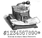 1888 Improved Automatic Check Perforator Hansen OM.jpg (61619 bytes)