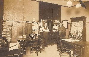 1912 Ticket Office with calendar for Denver & Rio Grande RR. Order duplicates from A.N.Aveldson Minneapolis stamped on back OM.jpg (267155 bytes)